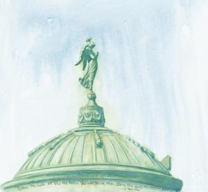 Angel on dome