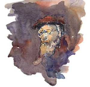 Watercolor- Older Man